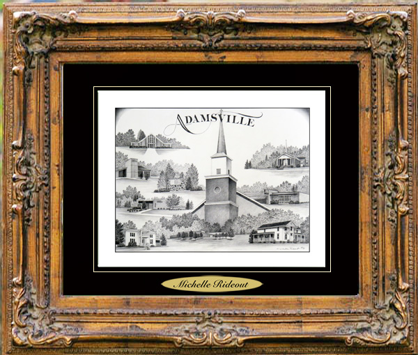 Pencil Drawing of Adamsville TN