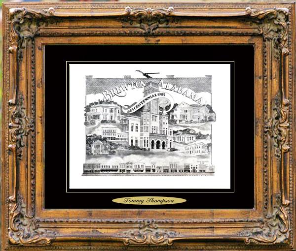 Pencil Drawing of Brewton, AL