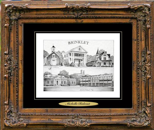 Pencil Drawing of Brinkley, AR