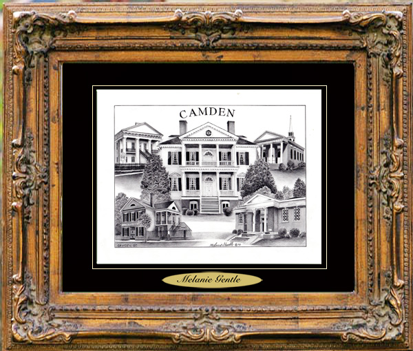 Pencil Drawing of Camden, SC