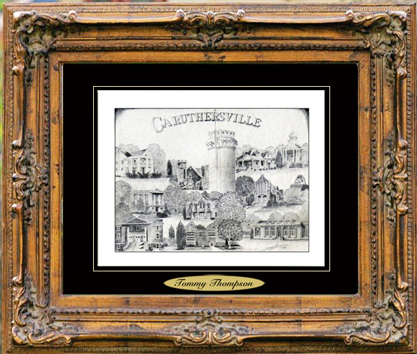 Pencil Drawing of Caruthersville, MO