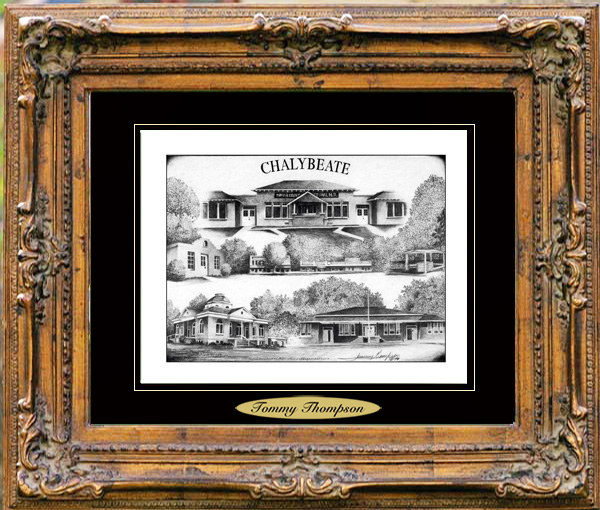 Pencil Drawing of Chalybeate, MS