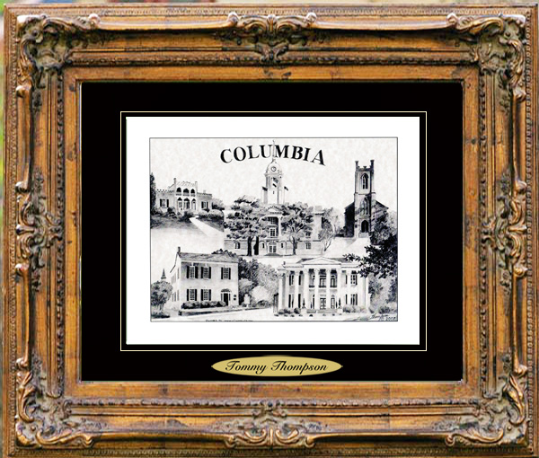Pencil Drawing of Columbia, TN Two
