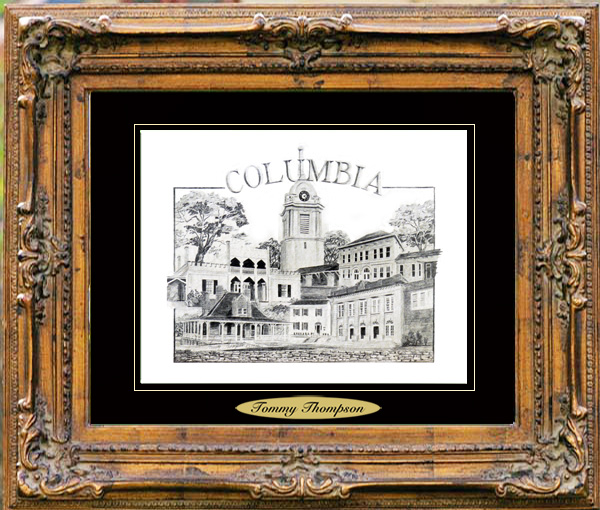 Pencil Drawing of Columbia, TN