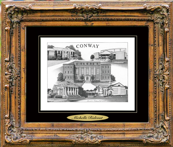 Pencil Drawing of Conway, AR