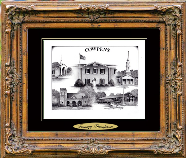 Pencil Drawing of Cowpens, SC