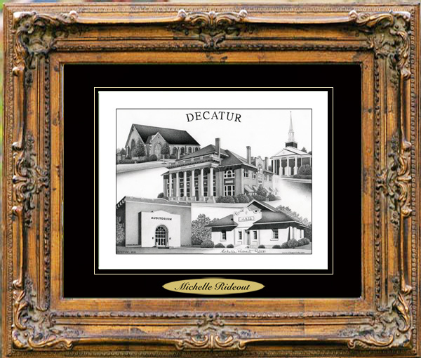 Pencil Drawing of Decatur, MS
