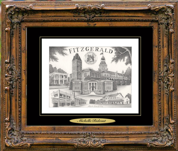 Pencil Drawing of Fitzgerald, GA