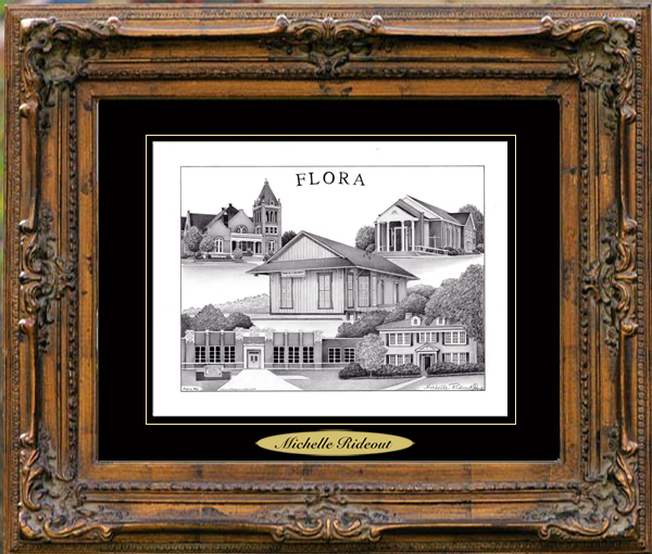 Pencil Drawing of Flora, MS