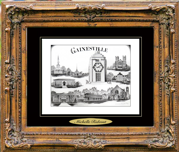 Pencil Drawing of Gainesville, GA