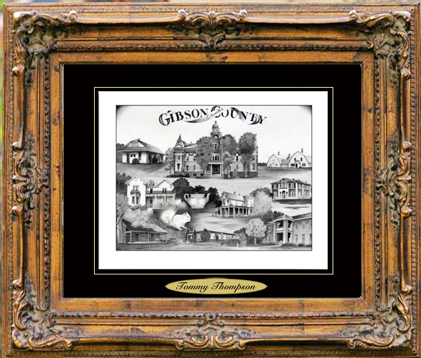 Pencil Drawing of Gibson County, TNL