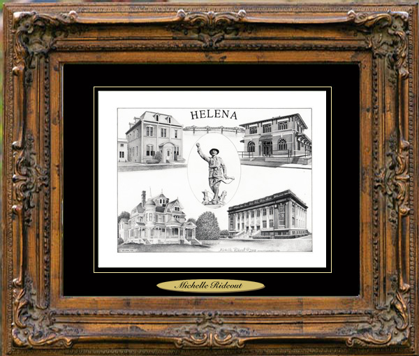 Pencil Drawing of Helena, AR