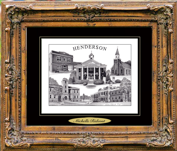 Pencil Drawing of Henderson, TN