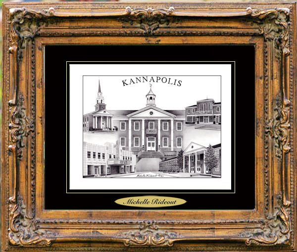 Pencil Drawing of Kannapolis, NC