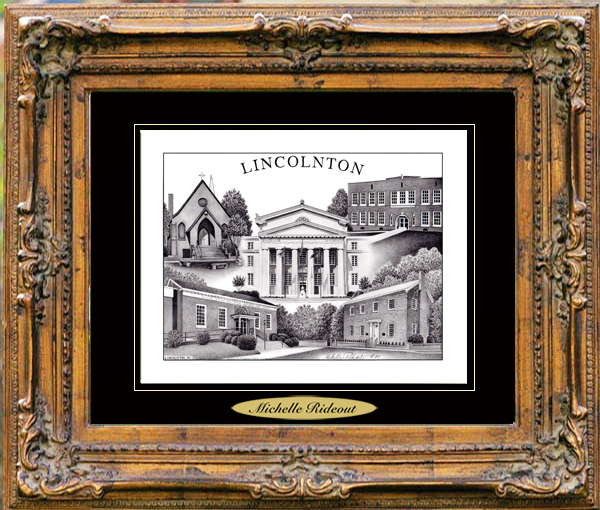 Pencil Drawing of Lincolnton, NC