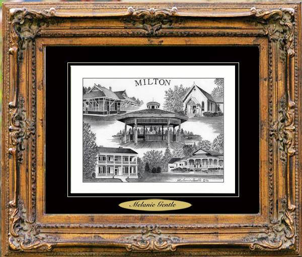 Pencil Drawing of Milton, FL
