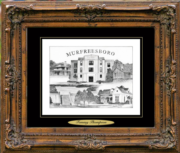 Pencil Drawing of Murfreesboro, AR
