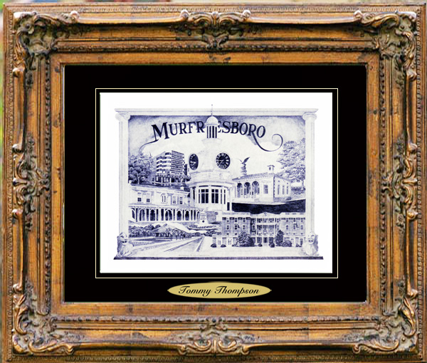 Pencil Drawing of Murfreesboro, TN