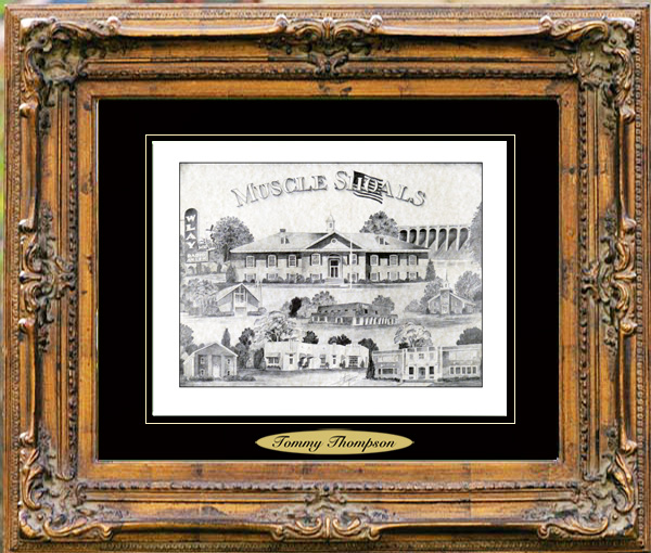 Pencil Drawing of Muscle Shoals, AL