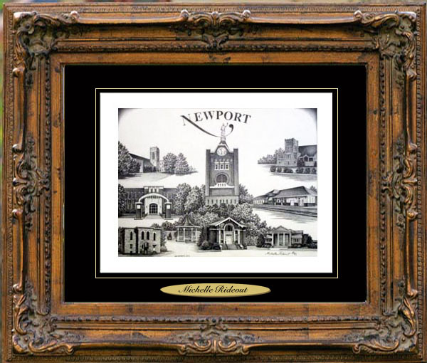 Pencil Drawing of Newport, AR