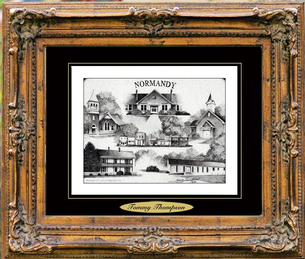 Pencil Drawing of Normandy, TN