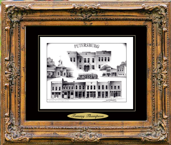 Pencil Drawing of Petersburg, TN