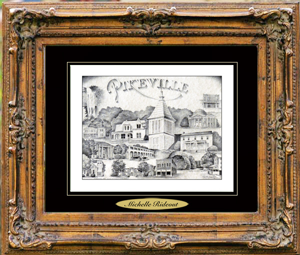 Pencil Drawing of Pikeville, TN