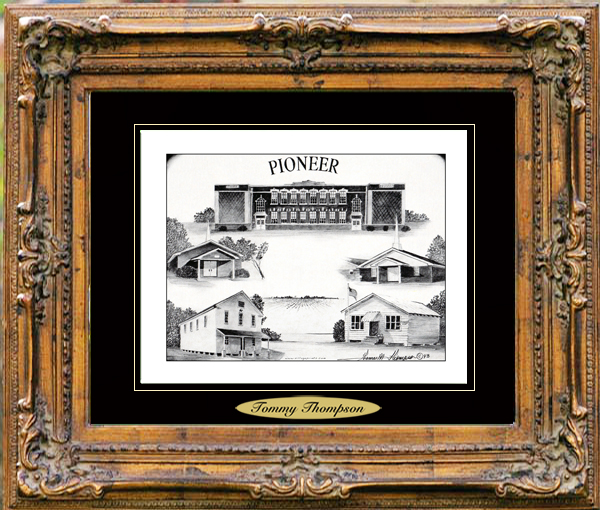 Pencil Drawing of Pioneer, LA