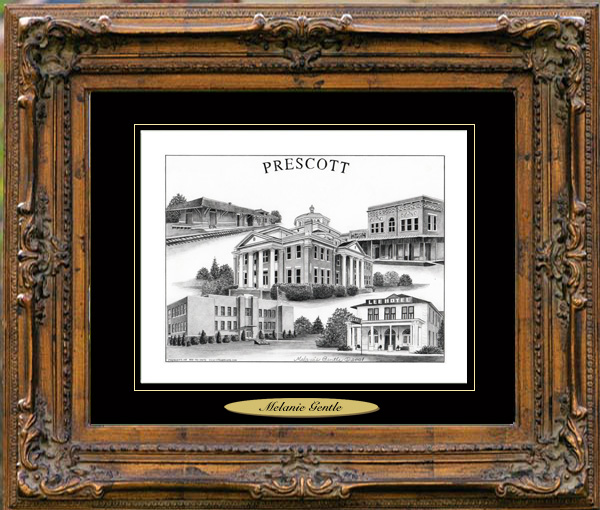 Pencil Drawing of Prescott, AR