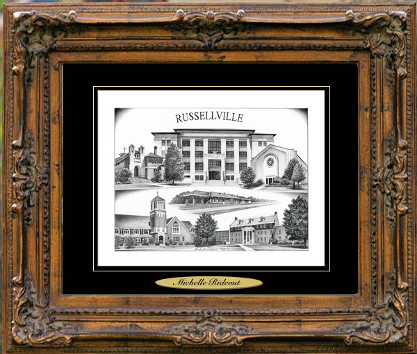 Pencil Drawing of Russellville, AR