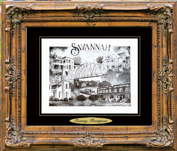Pencil Drawing of Savannah, TN Two