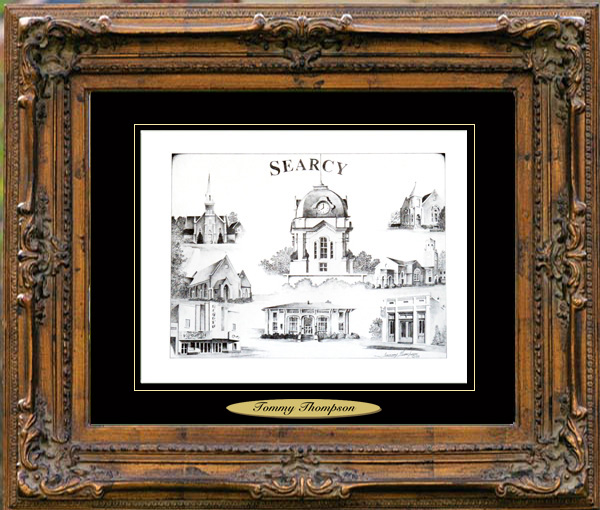 Pencil Drawing of Searcy, AR