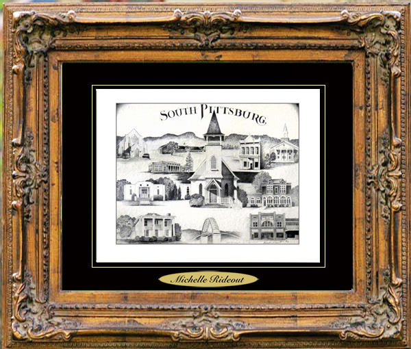 Pencil Drawing of South Pittsburg, TN