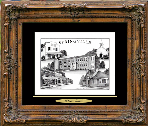 Pencil Drawing of Springville, AL