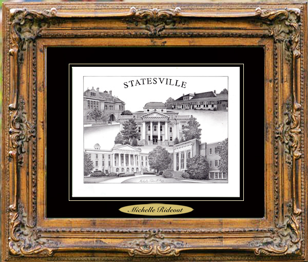 Pencil Drawing of Statesville, NC