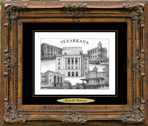Pencil Drawing of Texarkana, TX