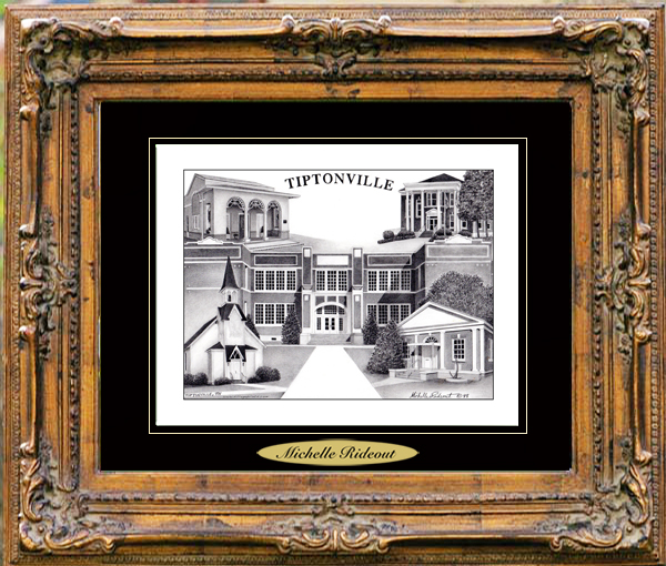 Pencil Drawing of Tiptonville, TN