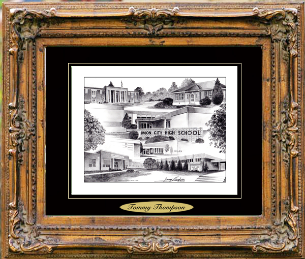 Pencil Drawing of Union City, TN Schools