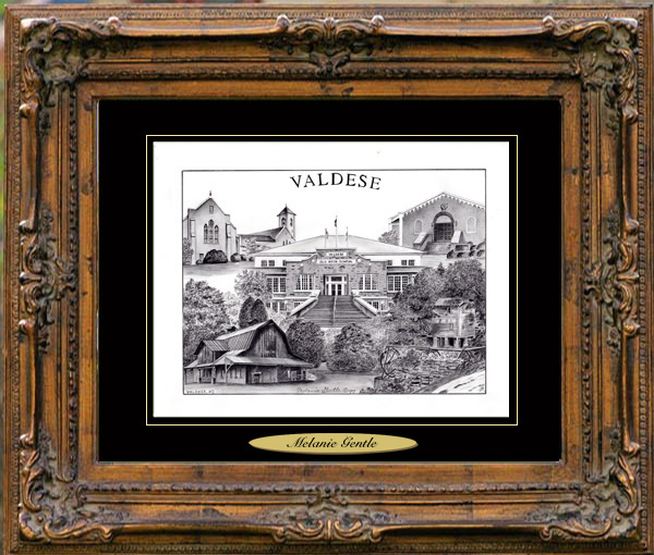 Pencil Drawing of Valdese, NC