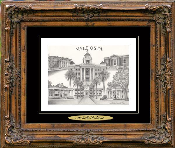 Pencil Drawing of Valdosta, GA