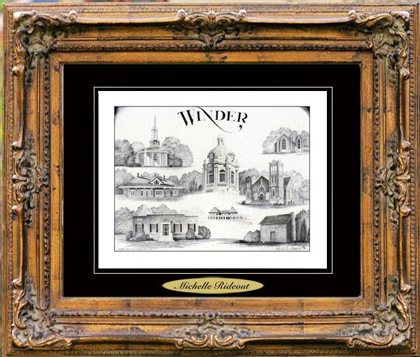 Pencil Drawing of Winder, GA
